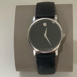 Movado Museum Watch - 33mm.  Black Leather.